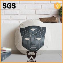 neues design mode superhelden muster runden sitzkissen leder sofa sitz kissenbez ge. Black Bedroom Furniture Sets. Home Design Ideas