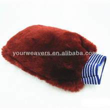 Burgundy Synthetic Wool Wash Mitts for Car Auto