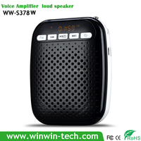 Digital Portable Voice Amplifier usb mini speaker for tablet pc Fashionable waist hanging loudspeaker with head type microphone