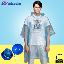 Promotional raincoat poncho in ball