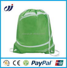 Promotional Custom Logo Printed Personalized Drawstring Backpack cheap reusable bags project shop bags