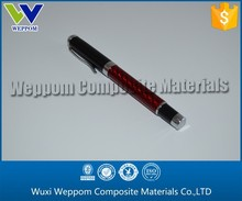 Black & Red & Silvery Carbon Fiber Metal Gel Pen For Sale