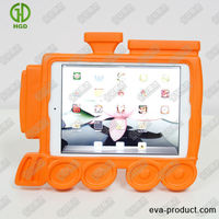 cute train appearance Shock Absorbing cover skin for ipad mini