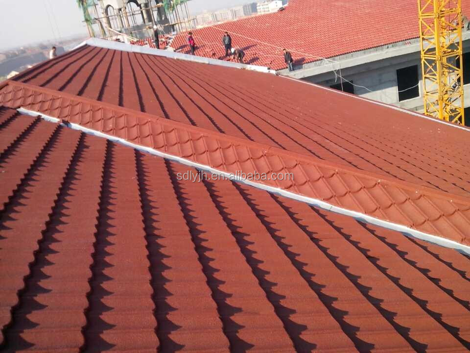 Stone coated metal roofing sheet for villa houses