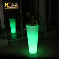 Plastic Luminous Floor Vase Hotel Lobby Home Garden Decorative Flower Pot