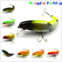 Section lures 10.5cm-14g hard plastic jointed minnow fishing baits with 6# high carbon steel treble fishhooks