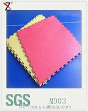 solid color sports interlocking pvc vinyl flooring