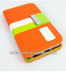 Supply two mobile phones leather case with factory cheap price