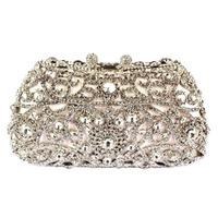 Top quality European fashion crystal smile face silicone bag