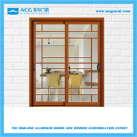 Professional glass aluminum frame horizontal slider door home design