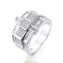 Best Products For Import Cross Design Men'S Gemstone Rings FR007