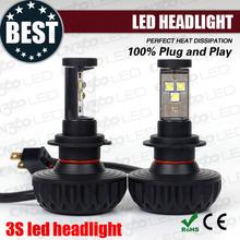 High power 3000lm cree led motorcycle headlamp h4 high low beam led headlight