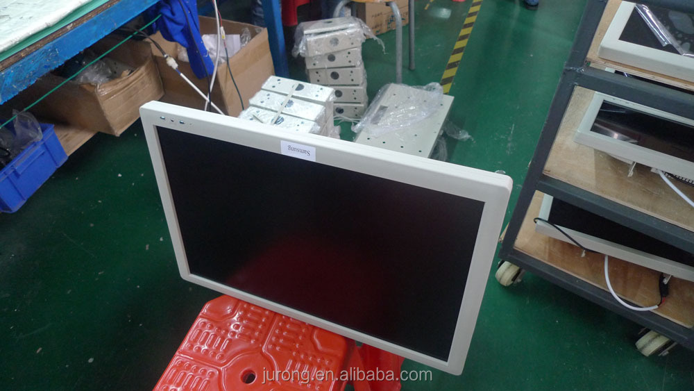 High definition 17 inch 12 V back folding Coach LCD AD player