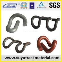 Railway spring steel fasteners clip/high permanent clip strength rail clip