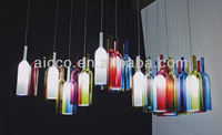 china supplier new product replica jar Bottle coloured glass led pendant lighting