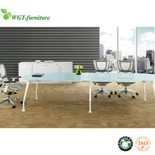 2015 glass top conference table with stainless steel legs