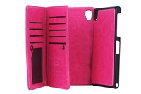 BRG brand new detachable flip wallet leather case for sony xperia z2 with photo frame