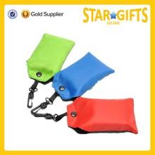 Custom printing pouch nylon shopping bags portable folding shopping bag