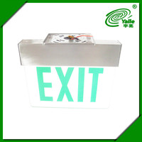 High quality Green Exit Sign Edge Lit Acrylic Double Faces