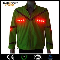 LED light bike clothes , safety at night ride