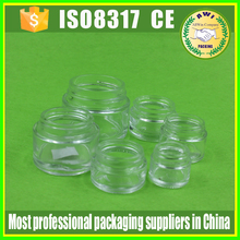 empty round glass jars with aluminum cap transparent clear glass candle jar