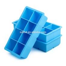 Libre de BPA silicona Ice Cube Tray / bola de hielo fabricante, de la categoría alimenticia silicona cubito de hielo
