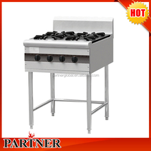 Chinese 4 burners gas cooking range , Commercial Chinese cooking range