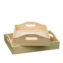 Cheap unfinished handmade wholesale wooden serving /food/fruite tray
