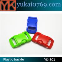 Eco-fridenly Plastic luggage buckle,bracelet clasps buckle,curved survival bracelet buckle
