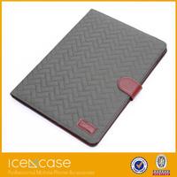 2015 Unique fastener tartan leather case smart cover for ipad air2