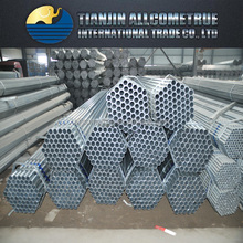 2015 hot selling BS1387 ERW galvanized steel pipe, tube galvanized for sale