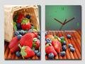 morango relógio da parede da lona,relógio de parede de morango,relógio de parede blueberry
