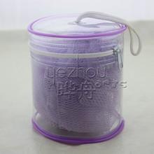 hot selling purple bath sponge with PVC bucket
