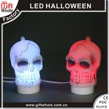 De Halloween fresco venta al por mayor luz de la noche llevó cráneo luz