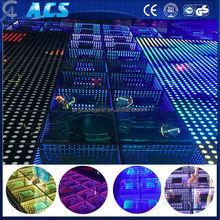 50cm*50cm square led dance floor/full color 3d led dance floor/rgb mixing led dance floor