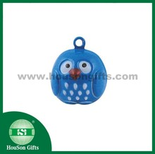 HouSon new Metal Crafts animal brass owl small jingle bell blue owl metal bell