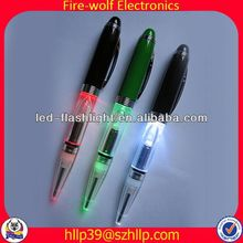 2014 China Supplier New Style Colourful Led Flashing ball pen pencil highlighter set