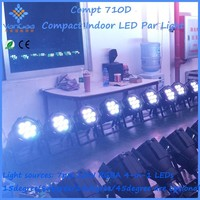7*10W RGBA LED PAR Can Light for wedding up lights,suitable for large art performance, theatres, studio, discos