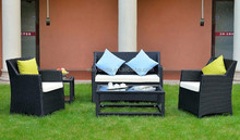 Outdoor wicker furniture garden combined synthetic rattan sofa set with cushion