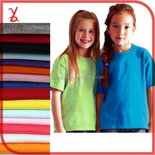 KT02 kids white t shirt combed blank T-shirts custom t-shirt