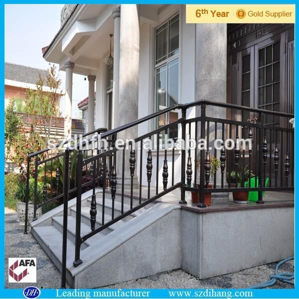 De hierro forjado barandas porche escalera de hierro de - Barandas para escaleras de hierro ...