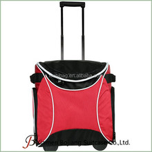 large capacity trolley fresh keeping package insulated cooler bag on wheel