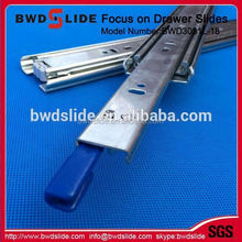 full extension self closing table drawer slide with dismantle