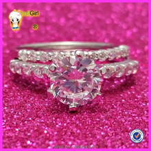 China factory direct sale new model wedding ring fashion ring double finger ring