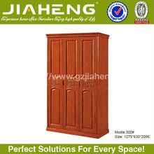 3 door bedroom wall plywood wardrobe design