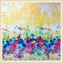 novo design de moda de poliéster leite de seda flores de tecido para vestidos de material de impressão digital