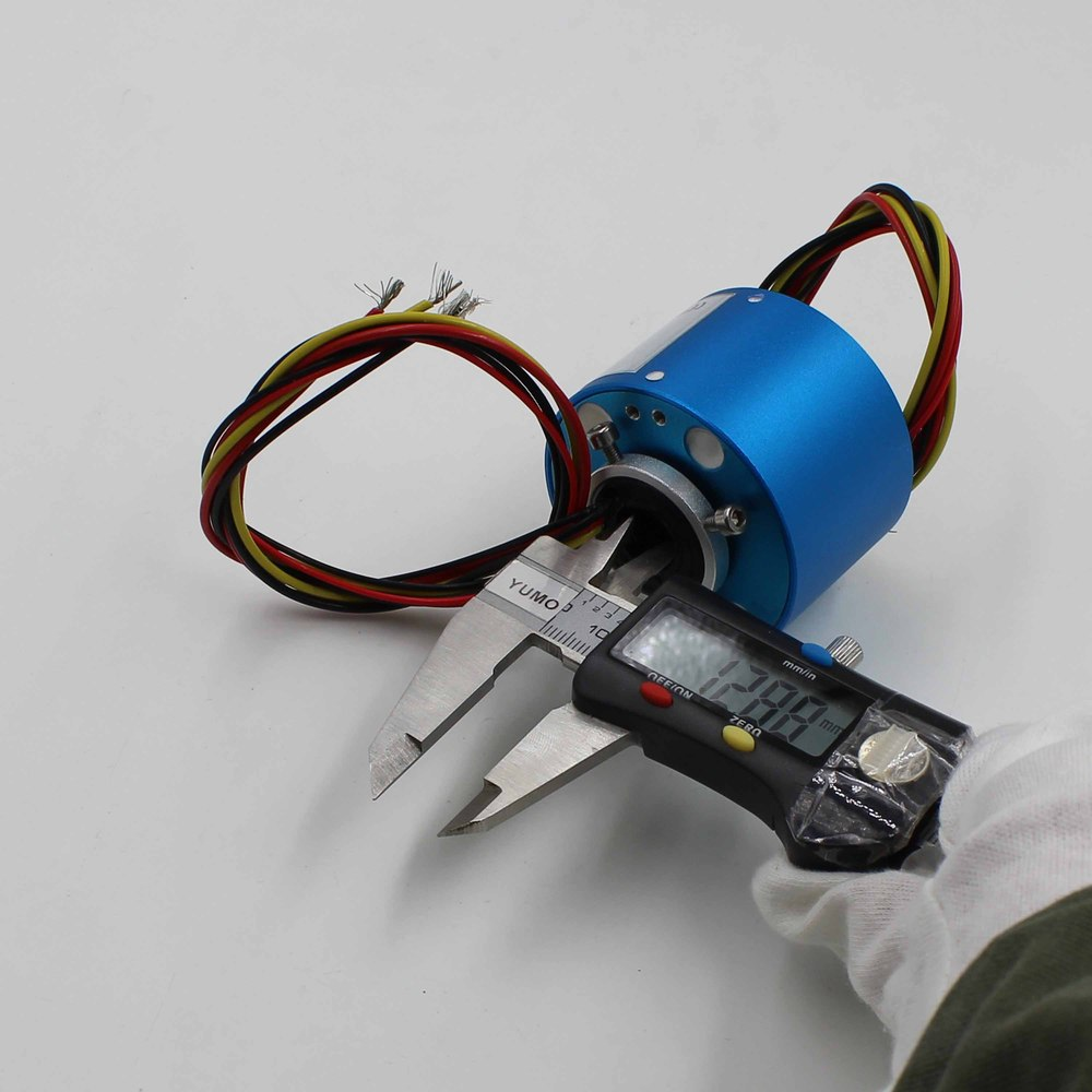 Carbon Brush Holder Through Hole Slip Ring Motor Swivel