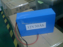 12V30AH LiFePO4 Battery, 2000cycles PVC Lifepo4 12V30Ah battery pack, portable LIFEPO4 BATTERY PACK 12V 30AH with BMS
