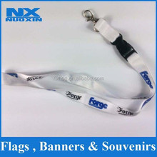 heated transfer printing polyester fashion lanyard safety breakaway buckles