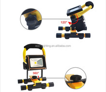 Lithium battery removable adapter/ car charging USB function IP65 LED work Light Rechargeable LED flood Light Rechargeable